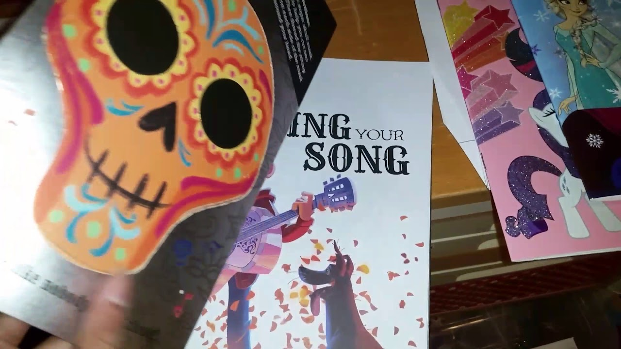 Disney Pixar Coco Sing Your Song Activity Book Diary Youtube