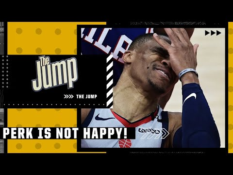Perk CAN'T BELIEVE Russell Westbrook is lower than Ben Simmons in ESPN's NBArank | The Jump