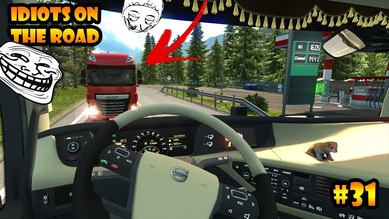 idiots on the road 31 ets2mp funny moments euro. Black Bedroom Furniture Sets. Home Design Ideas