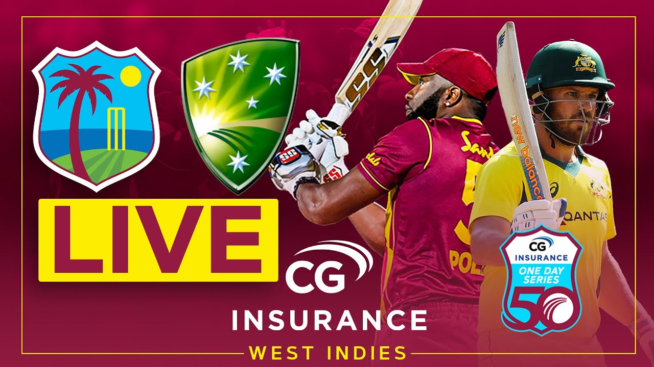 🔴LIVE | West Indies v Australia | 2nd CG Insurance ODI