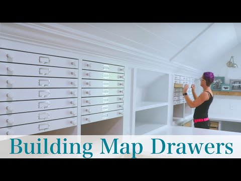 "How to Build and Install DIY ""Map Drawers"""