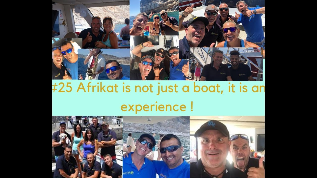25 reasons why you should come in our Afrikat catamaran