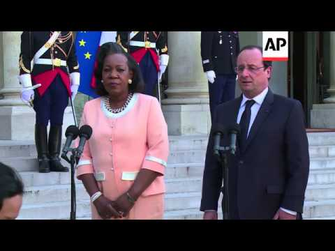 President Hollande meets Interim president of the Central African Republic, comments