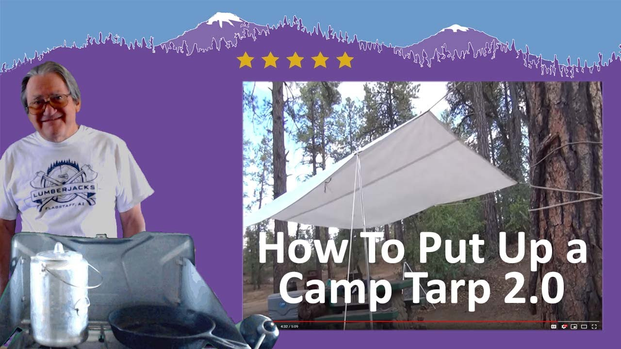 & How to put up a camping tarp - 2.0 - YouTube
