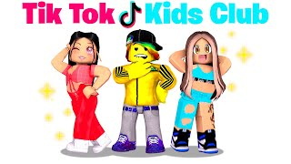 Baby Tofuu joins the Tik-Tok Kids Club.. 🎵⭐ (Roblox)