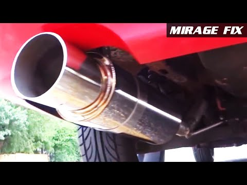 "Mirage Fix 16 | Ebay 4"" Tip N1 Stainless Exhaust Muffler"