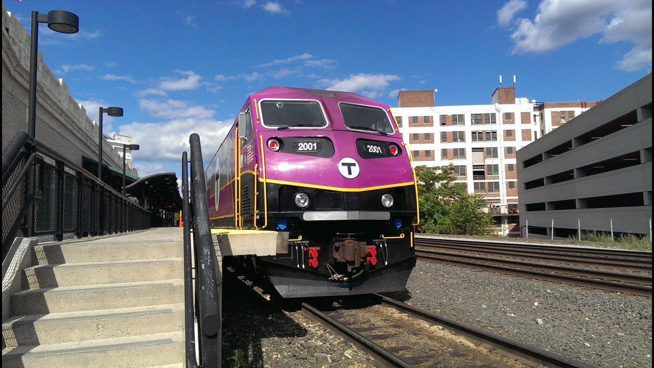Brand New Mbta Hsp46 With A Rotem Cabcar In Worcester 6 7