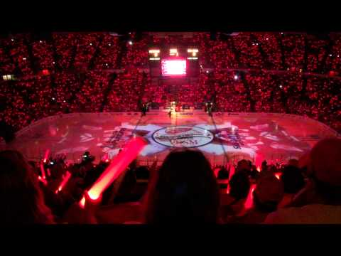 Detroit Red Wings 2012 Playoff Home Opener - Full Intro