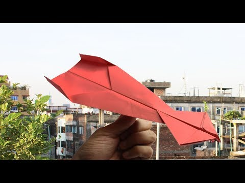 How To Make A Paper Airplane - Best Paper Airplane Tutorial - Paper Airplane