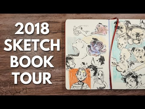 Sketchbook Tour 2018 // My Messy Moleskine