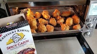 Breville Smart Oven Air Fryer Kentucky Kernel Spicey Cajun Chicken Wings Airfryer