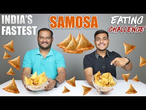 SAMOSA EATING CHALLENGE | Samosa Eating Competition | Food Challenge