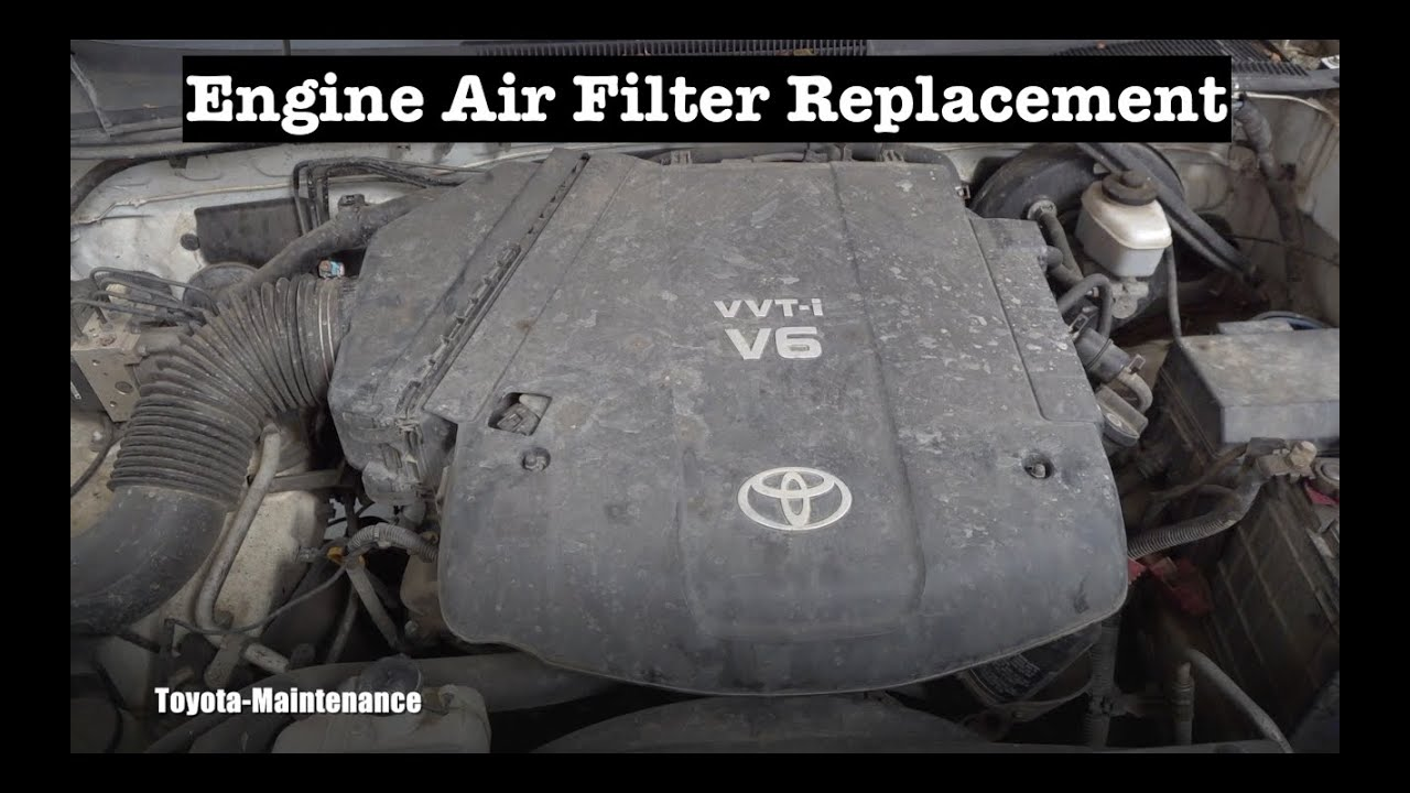 Toyota V6 4.0 Liter 1GR-FE Engine Air Filter replacement