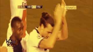 イブラヒモビッチのスーパーゴール!  欧州CL アンデルレヒト vs パリ・サンジェルマン