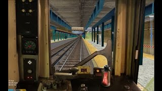 OpenBVE HD EXCLUSIVE: New York City Subway R40 Slant B Train Cab Ride 145th Street to Brighton Beach
