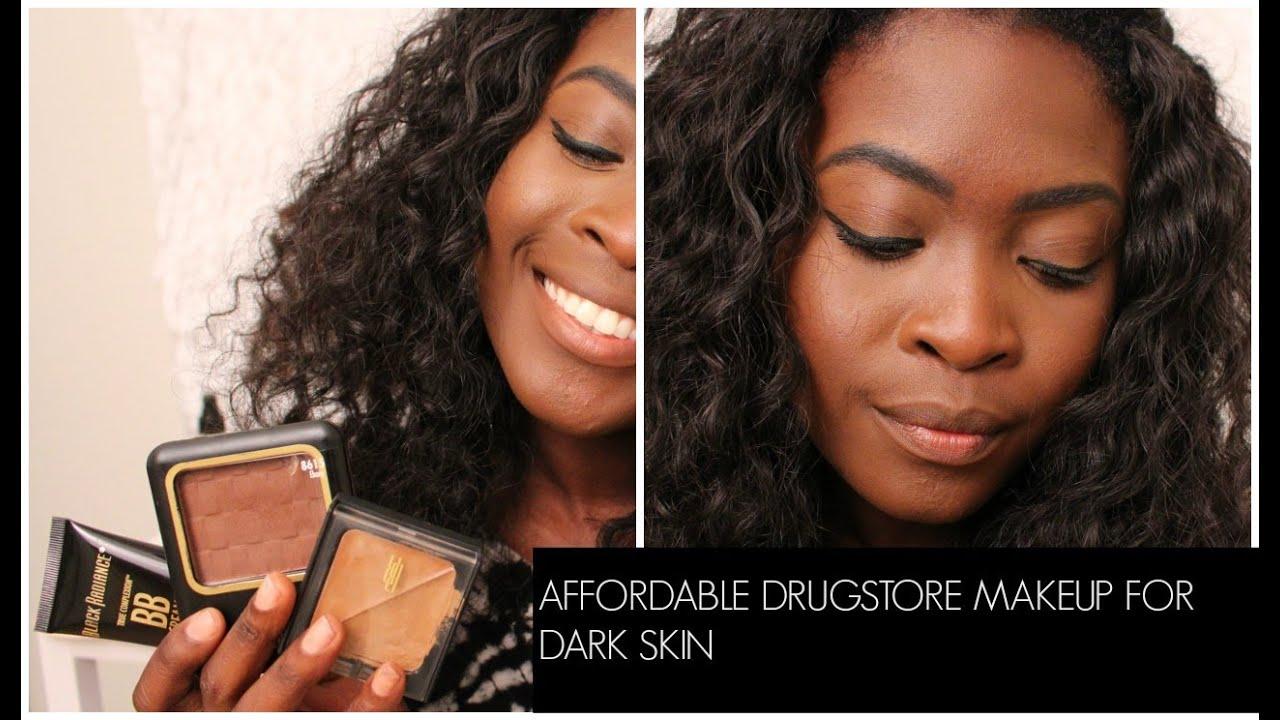 MAC DUPES? $6 FOUNDATION?! DRUGSTORE MAKEUP FOR DARK SKIN FT  BLACK RADIANCE