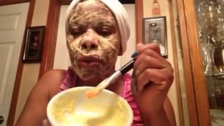 Masque  anti-rides ,anti-cernes  pour le visage a L Haitienne,  explique en .Creole.