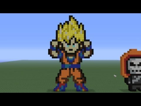 Minecraft Pixel Art: Goku Tutorial thumbnail