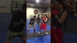 Crazie locs sparring mma fighter hands only boxing vs mma fighting