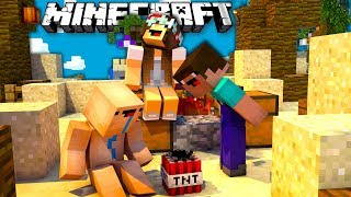 Нубики атаковали кровать на бедварс в майнкрафт - Hypixel Bed Wars Minecraft