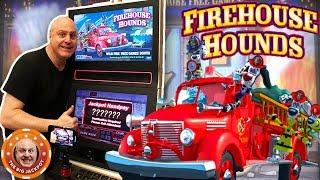 🔥This Machine's on FIRE! 🔥Firehouse Hounds BONUS JACKPOT! 🎰| The Big Jackpot