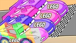 Lightning McQueen VS Francesco Bernoulli Final Race! #5 | Learn Colors w/ Cartoon Lego Disney Cars