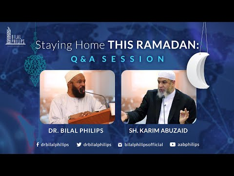 Staying Home This Ramadan: Q & A Session
