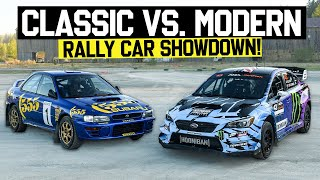What's Faster: Older Rally Car -OR- New Rally Car?? Ken Block Compares GC8 VS 2021 Subaru WRX STI