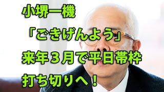 小堺一機「ごきげんよう」来年3月で平日帯枠打ち切りへ!週一放送へリ...