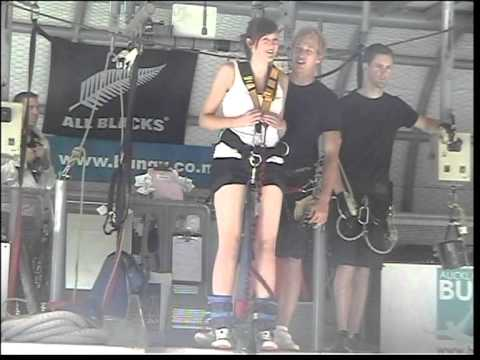 Auckland Harbour Bridge Bungy Jump - scared as!