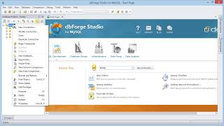 How to create a simple connection using dbForge Studio for MySQL?
