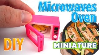 DIY Realistic Miniature Microwave Oven | DollHouse | No Polymer Clay!