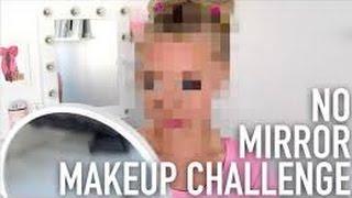[REUPLOAD] No Mirror Makeup Challenge   Jag sminkar mig utan spegel