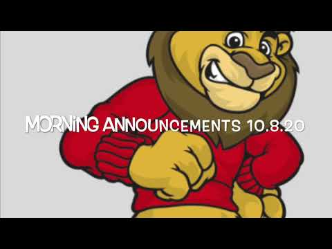 Link Elementary School Morning Announcements October 8, 2020