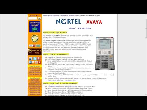 Telecom Tips: Nortel / Avaya 1100 Series IP Phones