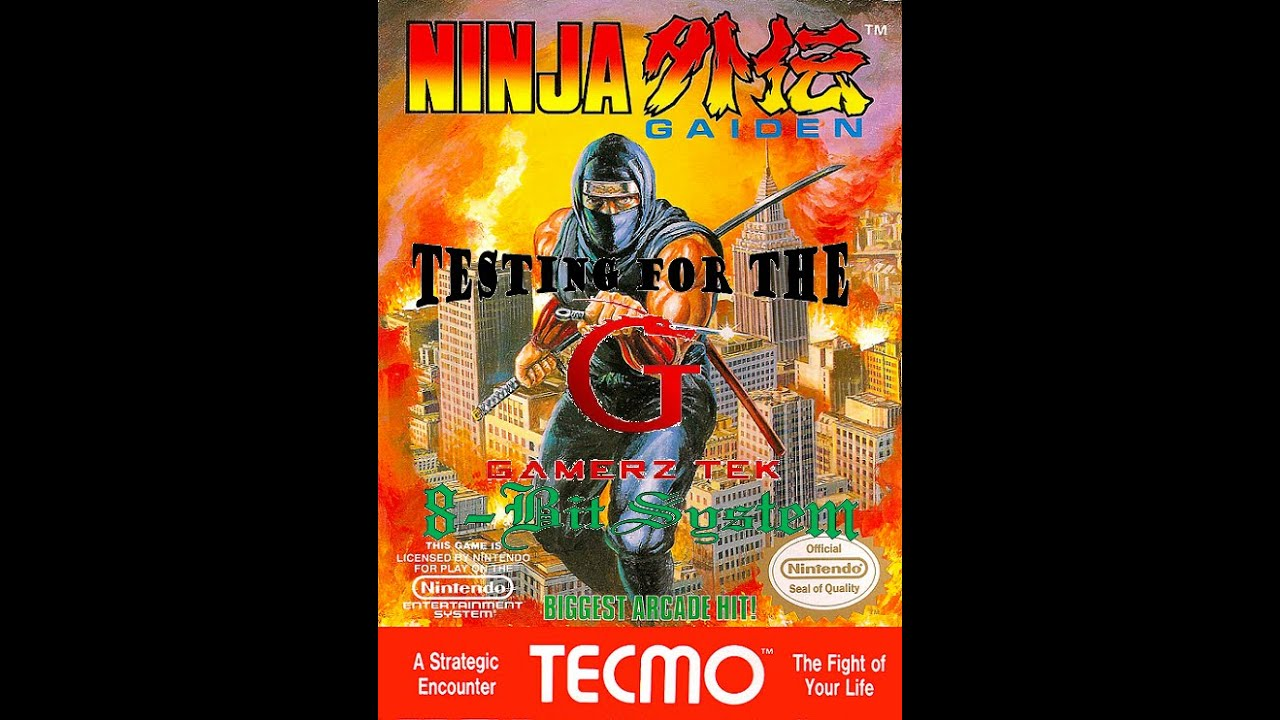 The Testing Of Ninja Gaiden On The Gamerz Tek 8 Bit System Youtube