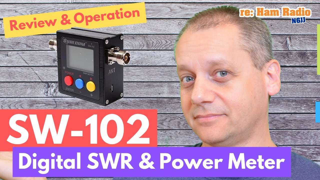 SW-102 by Surecom - Digital VHF/UHF SWR & Power Meter Review & Operation