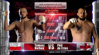KSW Free Fight: Phil de Fries vs Tomasz Narkun | KSW 57