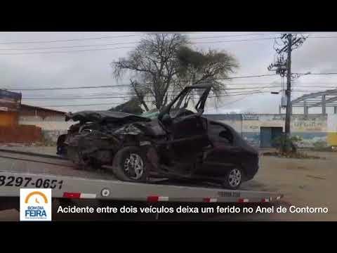 Acidente entre dois veículos deixa uma pessoa ferida no Anel de Contorno