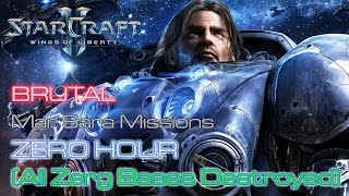 Starcraft II: Wings of Liberty - Brutal - Mar Sara - Mission 3: Zero Hour B (All Bases Destroyed)