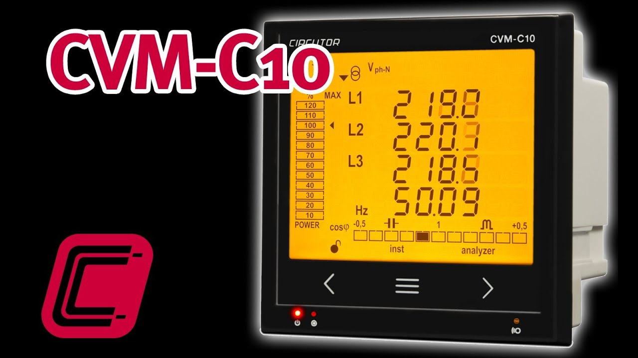 Cvm C10 Electrical Power Analyzer With Energy Measurement Youtube