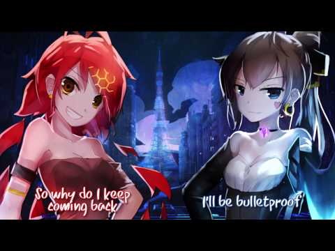 【Nightcore】→ Bulletproof // Release Me ( Switching Vocals ) || Lyrics
