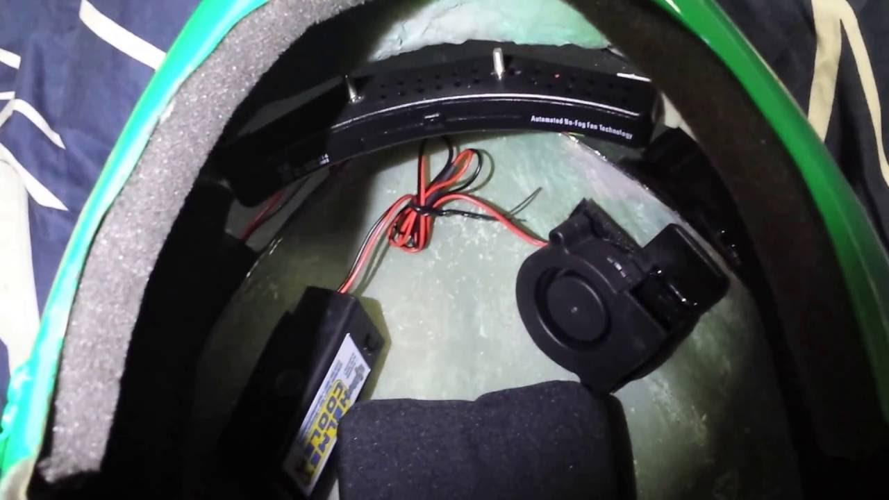 Aniki power ranger helmet cooling fan tutorial