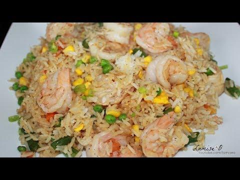 Easy Shrimp Fried Rice Recipe  How To Make Shrimp Fried Rice  Episode 153