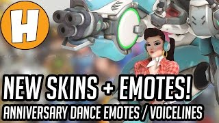 Overwatch Anniversary Skins, Dance Emotes and Voice Lines! | Hammeh