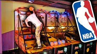SLAM DUNKING AT ARCADE! *BREAKING THE RULES*