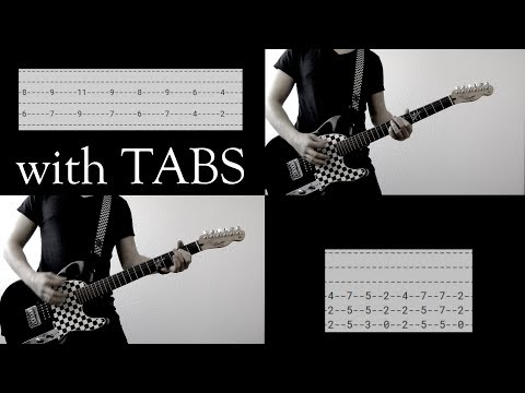 Linkin Park - Somewhere I Belong Guitar Cover w/Tabs on screen