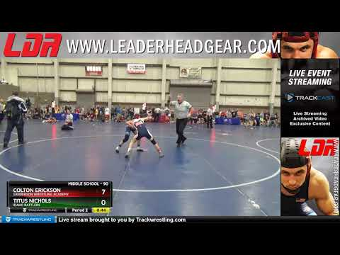 Middle School 90 Colton Erickson Sanderson Wrestling Academy Vs Titus Nichols Idaho Rattlers