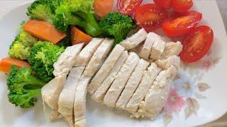 【簡単ヘルシー 自家製チキンハム】鶏むね肉 X 塩麹 = 美味