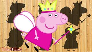 Learn Colors Family Peppa Pig Toys Puzzle Wooden Peppa for Children Educational Video